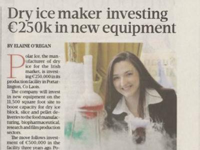 Dry Ice maker investing 250k in new equipment